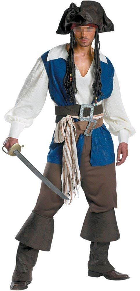 Disfraz de Capitan Pirata de Halloween para Hombre/Mujer ...