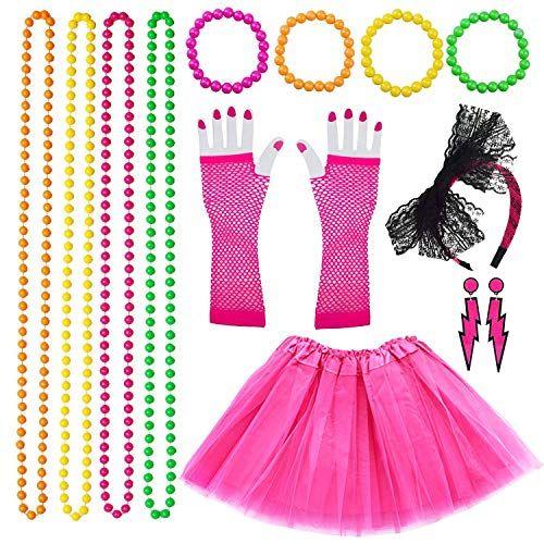 Vston 80s Disfraz De Disfraces Para Mujeres Niñas Adultos 80