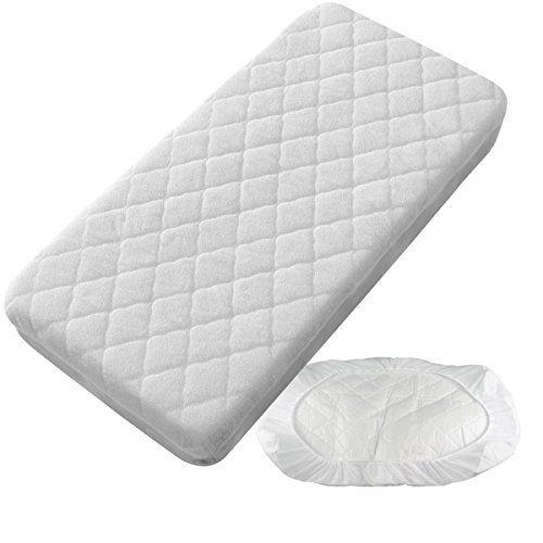 Protector Impermeable Color Blanco Pirulos S/ábana Bajera Protectora Impermeable para Cochecito de Beb/é de 40x80 cm//S/ábana Bajera Ajustable