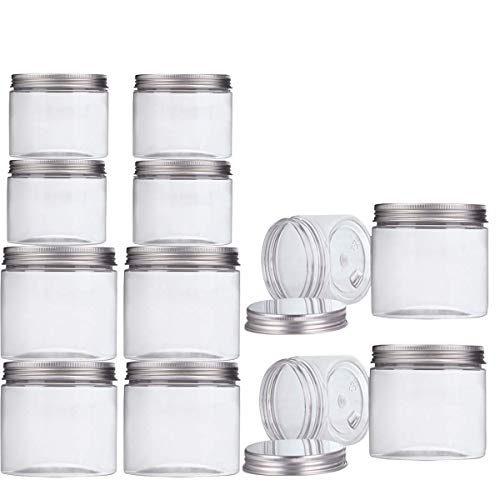 Set de 12 tarros de cristal con cierre de rosca 550 ml