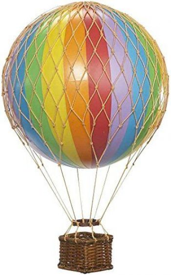 L/ámpara color azul 40,6/cm, papel dise/ño de globo aerost/ático con nubes y arco iris Lighting Web