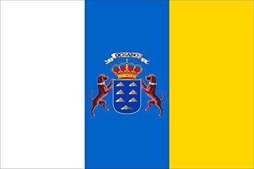 Bandera Canaria 60 x 90 cm AZ FLAG Bandera de CANARIAS SIN Armas 90x60cm