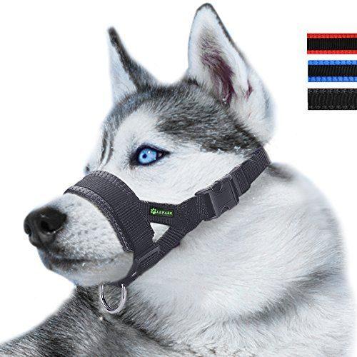 mailfoulen Perro bozales Anti-morder Barking Animal dom/éstico del Perro Ajustable Boca bozal Cubierta Peque/ña Mediana Grande Perro Extra