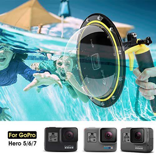 Cámara De Mano Puerto de cúpula de buceo submarina caso cubierta de ajuste GoPro Hero 6//5 Cam